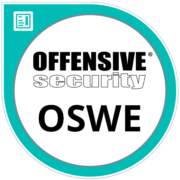 OSWE | Offensive Security Web Expert. Certified to provide web application penetration testing.